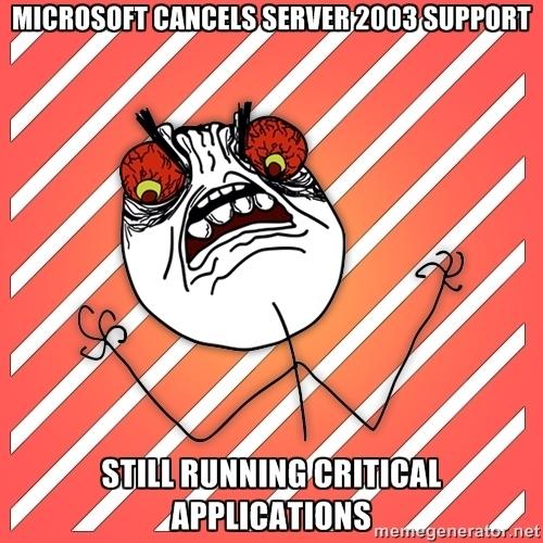MS Server 2003 support ending image