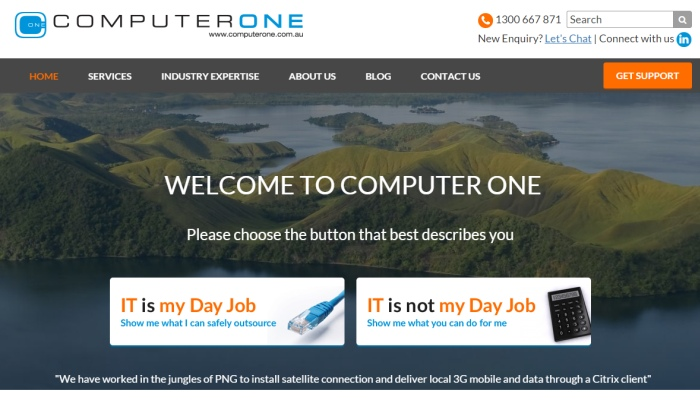 Computer One new website