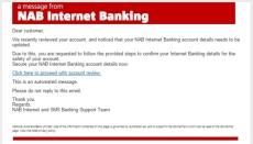 NAB Fake Email image - Phishing Image