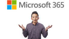 What is Microsoft 365? Image of a man holding his hands in the air, wondering