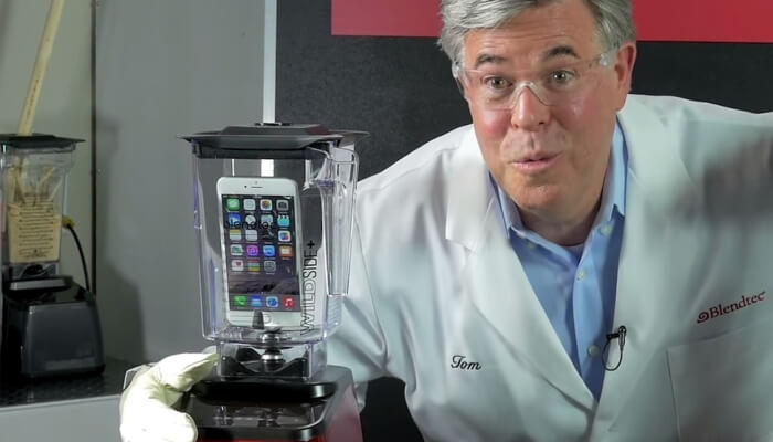 Mobile device management solution - a scene from a Blendtec movie
