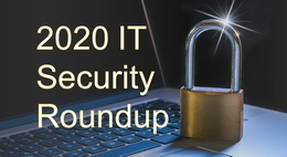 IT Security Roundup - a padlock is symbolically placed a laptop's keyboard