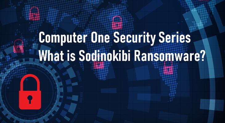 What is the Sodinokibi Ransomware - stylised cybersecurity image