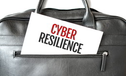 Cyber resilience - a cyber resilience plan is shown in a suitcase